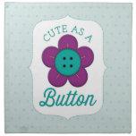 Cute As A Button! Napkins
