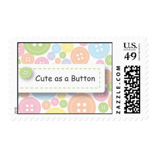 Cute as a Button Postage Stamp