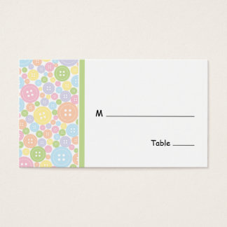 Cute as a Button | Table Seating Card