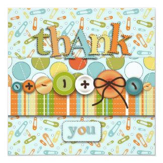 Cute as a Button Thank You Card