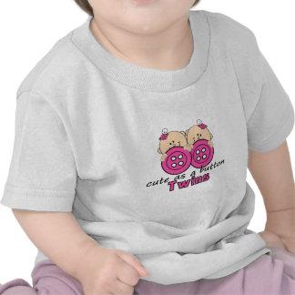 Cute As A Button Twin Girls T Shirt