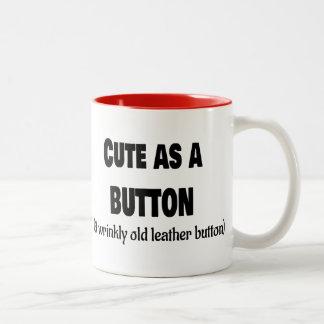 Cute as a Button Two-Tone Coffee Mug