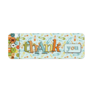 Cute as a Button TY Skinny Gift Label Return Address Label