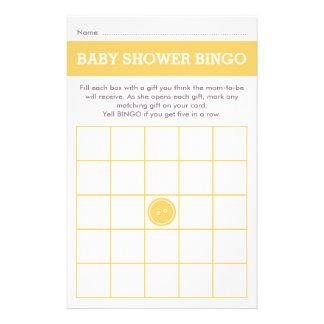 Cute as a Button (Yellow) Flyer