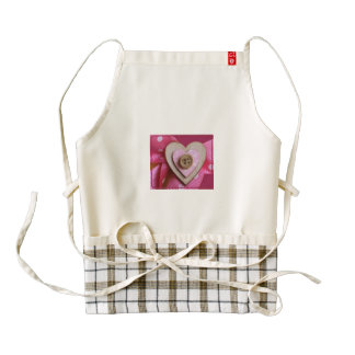 Cute as a Button Zazzle Heart Apron
