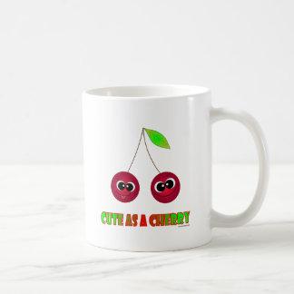 Cute as a cherry classic white coffee mug