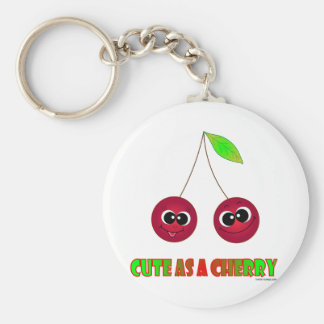 Cute as a cherry key chains