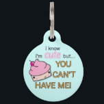 """Cute As A Cupcake Pet ID Tag<br><div class=""""desc"""">Your pet is the neighborhood favorite, and there"""