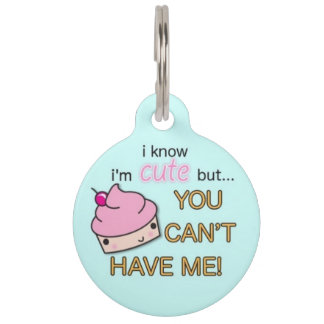 Cute As A Cupcake Pet ID Tag