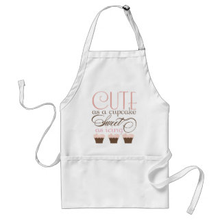 Cute as a cupcake! Pink & Brown Adult Apron