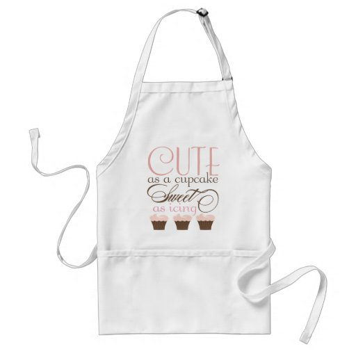 Cute as a cupcake! Pink & Brown Apron from Zazzle.