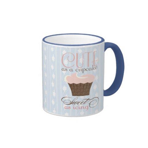 Cute as a cupcake! Pink & Brown Coffee Mug