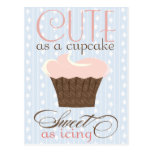Cute as a cupcake! Pink & Brown Postcards