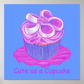 Cute as a Cupcake ~ Purple Cupcake Print