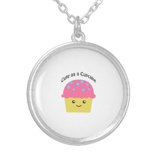Cute as a Cupcake Silver Plated Necklace