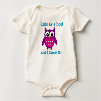 Cute as a Hoot Infant Sleeper Rompers