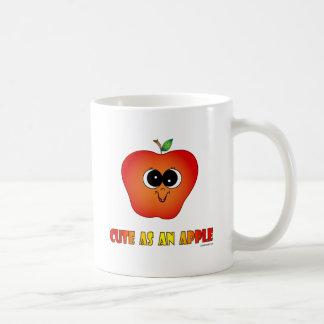 Cute as an Apple Classic White Coffee Mug