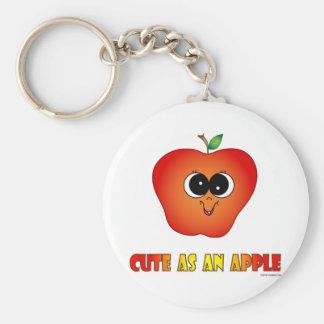 Cute as an Apple Key Chains