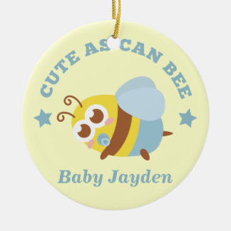 Cute as Can Bee, Baby Boy Ceramic Ornament