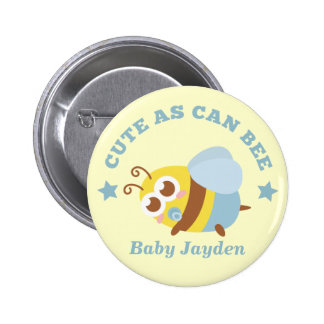 Cute as Can Bee, Baby Boy Pinback Button