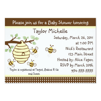 Cute as Can Bee Baby Shower Invitation