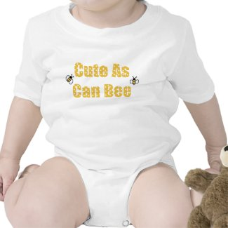 Cute as Can Bee baby zazzle_shirt