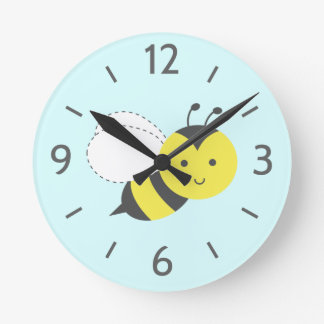 Cute as can bee, for kids round clock