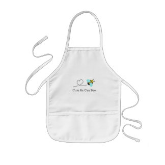 Cute as can bee, for toddlers kids' apron