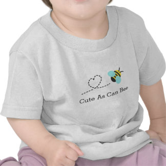 Cute as can bee, heart trail, for babies tshirt