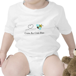 Cute as can bee, heart trail, for babies baby creeper