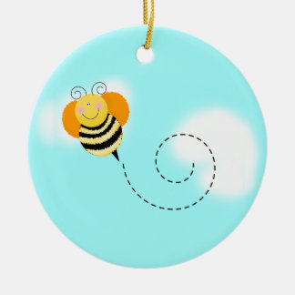 Cute as can Bee Photo Christmas Ornament