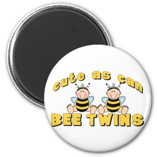 Cute As Can BEE Twins 2 Inch Round Magnet
