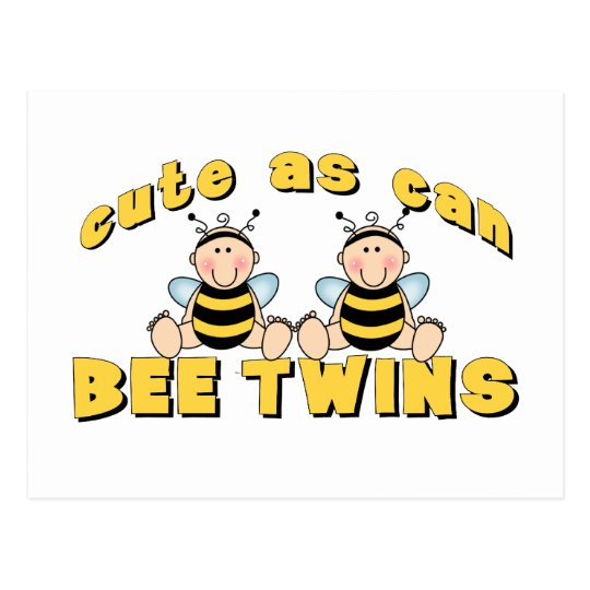 Cute As Can BEE Twins Postcard