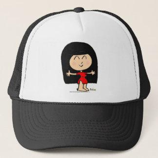 CUTE ASIAN GIRL TRUCKER HAT