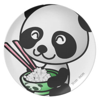 Cute Asian Inspired Panda Plate