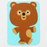 Cute Assertive Cartoon Bear Baby Blanket