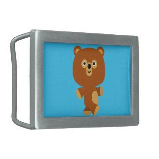 Cute Assertive Cartoon Bear Belt Buckle