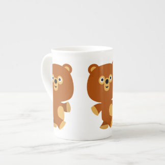Cute Assertive Cartoon Bear Bone China Mug