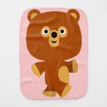 Cute Assertive Cartoon Bear Burp Cloth