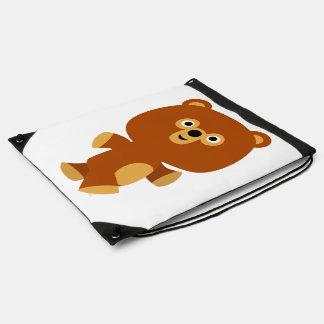 Cute Assertive Cartoon Bear Drawstring Backpack