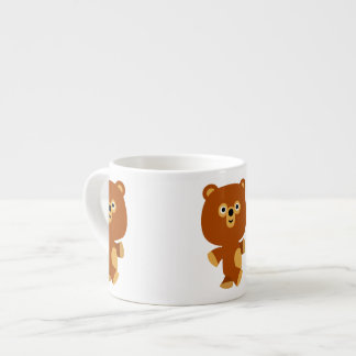 Cute Assertive Cartoon Bear Espresso Mug