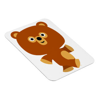 Cute Assertive Cartoon Bear Flexible Magnet