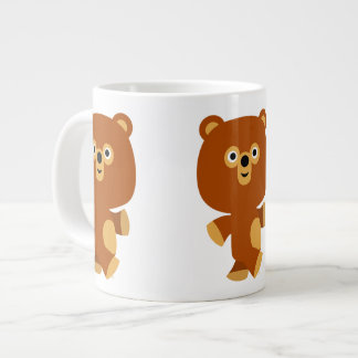 Cute Assertive Cartoon Bear Jumbo Mug