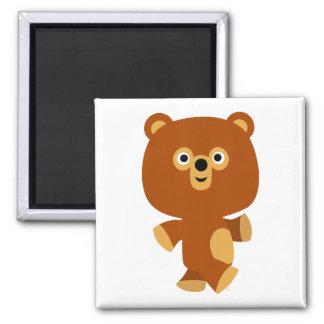 Cute Assertive Cartoon Bear Magnet