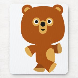 Cute Assertive Cartoon Bear Mousepad