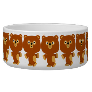 Cute Assertive Cartoon Bear Pet Bowl