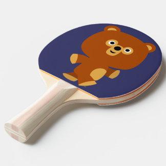 Cute Assertive Cartoon Bear Ping Pong Paddle