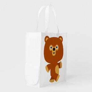 Cute Assertive Cartoon Bear Reusable Bag