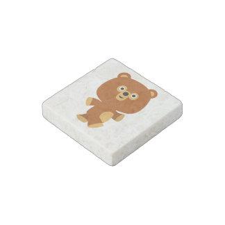 Cute Assertive Cartoon Bear Stone Magnet