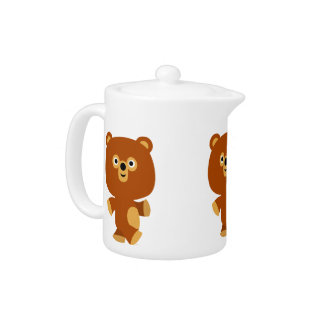 Cute Assertive Cartoon Bear Teapot